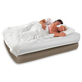 Queen Size Raised Comfort Airbed インフレータブル (空気を入れるタイプ) Mattress + Built-In AC Air Pump New クリスマス ハロウィン コスチューム コスプレ 衣装 変装 仮装