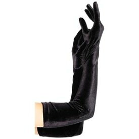 【マラソン全品P5倍】Long ブラック Stretch Velvet Gloves Opera Length 大人用 レディス 女性用 Formal アクセサリー クリスマス ハロウィン コスチューム コスプレ 衣装 変装 仮装