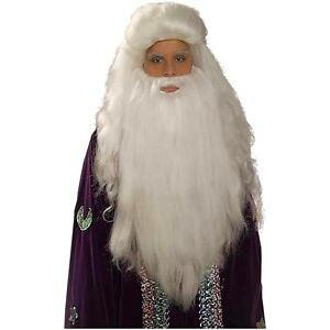 ホワイト Sorcerer Wig & クマ 熊d Set アクセサリー 大人用 男性用 メンズ クリスマス ハロウィン コスチューム コスプレ 衣装 変装 仮装