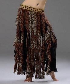 セクシー Tribal ベリーダンス 衣装 Tiger スカート ヒップスカーフ スカート ドレス 2 Color コスチューム ダンス 衣装 発表会