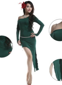 ベリーダンス 衣装 ドレス Jumpsuit ロング スカート ドレス Free Shipping 5 カラー コスチューム ダンス 衣装 発表会