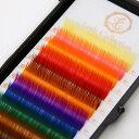 Lash Collection サロン専用 業務用 カラーマツエク カラーラッシュ 12列 カール レインボー キットまつげエクステ …