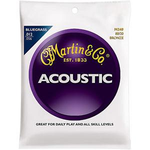 マーチン Martin M240 80/20 Bronze Round Wound Bluegrass Med Light アコースティック ギター アコギ Strings
