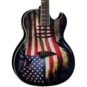 ディーン Dean Dave Mustaine Mako Glory Acoustic-エレキギター エレクトリックギター Flag Graphic