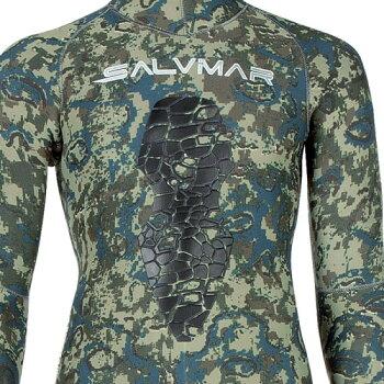 Salvimarサルビマー7mm2ピースダイビングウェットスーツN.A.T.スピアフィッシング魚突き手銛スキューバダイビングシュノーケルウエットスーツスノーケルダイブウェットセミドライスーツフルスーツマリンスポーツ