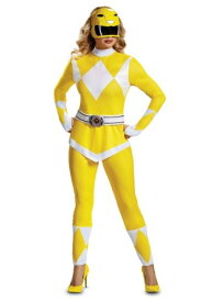Power Ranger Yellow Ranger Women's コスチューム ハロウィン レディース コスプレ 衣装 女性 仮装 女性用 イベント パーティ ハロウィーン 学芸会