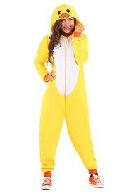 Yellow Duck Onesie for 大人用s ハロウィン レディース コスプレ 衣装 女性 仮装 女性用 イベント パーティ ハロウィーン 学芸会