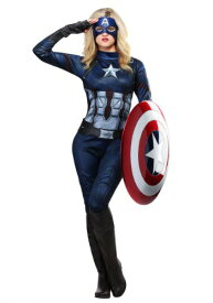 【50%OFF クーポンあり】Captain America Women's コスチューム ハロウィン レディース コスプレ 衣装 女性 仮装 女性用 イベント パーティ ハロウィーン 学芸会