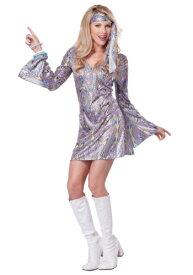 Women's ディスコ Sensation Dress コスチューム ハロウィン レディース コスプレ 衣装 女性 仮装 女性用 イベント パーティ ハロウィーン 学芸会