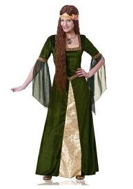 《ラストクーポン 全品10%OFF》大人用 Green Renaissance Lady コスチューム ハロウィン レディース コスプレ 衣装 女性 仮装 女性用 イベント パーティ ハロウィーン 学芸会