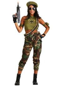 Women's Green Beret Beauty ハロウィン レディース コスプレ 衣装 女性 仮装 女性用 イベント パーティ ハロウィーン 学芸会