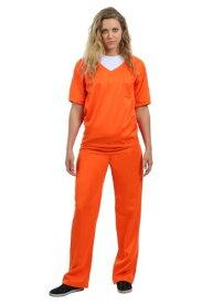 《全品P5倍 クーポン多数有》Women's Orange Prisoner コスチューム ハロウィン レディース コスプレ 衣装 女性 仮装 女性用 イベント パーティ ハロウィーン 学芸会