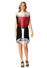 Glass of レッド Wine コスチューム for Women ハロウィン レディース コスプレ 衣装 女性 仮装 女性用 イベント パーティ ハロウィーン 学芸会
