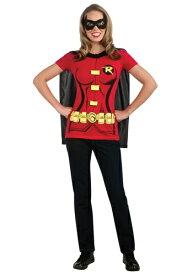 Womens Robin T-Shirt コスチューム ハロウィン レディース コスプレ 衣装 女性 仮装 女性用 イベント パーティ ハロウィーン 学芸会