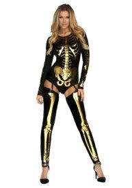 Women's Gold Bad to the Bone コスチューム ハロウィン レディース コスプレ 衣装 女性 仮装 女性用 イベント パーティ ハロウィーン 学芸会