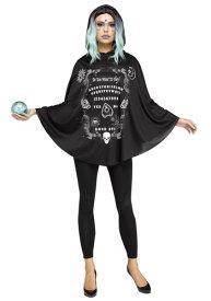 Spirit Board Poncho for Women ハロウィン レディース コスプレ 衣装 女性 仮装 女性用 イベント パーティ ハロウィーン 学芸会