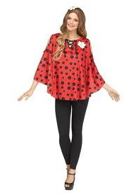Ladybug Poncho for Women ハロウィン レディース コスプレ 衣装 女性 仮装 女性用 イベント パーティ ハロウィーン 学芸会