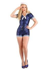 Women's Sequin Sailor コスチューム ハロウィン レディース コスプレ 衣装 女性 仮装 女性用 イベント パーティ ハロウィーン 学芸会