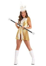 Golden Marching Band コスチューム for Women ハロウィン レディース コスプレ 衣装 女性 仮装 女性用 イベント パーティ ハロウィーン 学芸会