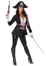 Captain Crossbones Women's 海賊 パイレーツ コスチューム ハロウィン レディース コスプレ 衣装 女性 仮装 女性用 イベント パーティ ハロウィーン 学芸会