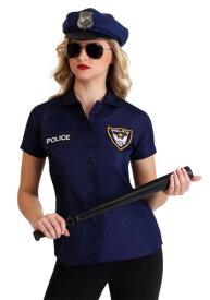 《全品P5倍 クーポン多数有》Women's ポリス 警察 Shirt ハロウィン レディース コスプレ 衣装 女性 仮装 女性用 イベント パーティ ハロウィーン 学芸会