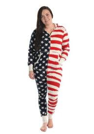 Womens Stars and Stripes フード Onesie ハロウィン レディース コスプレ 衣装 女性 仮装 女性用 イベント パーティ ハロウィーン 学芸会