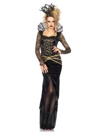 デラックス 邪悪な Queen コスチューム ハロウィン レディース コスプレ 衣装 女性 仮装 女性用 イベント パーティ ハロウィーン 学芸会
