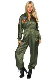 Top Gun Flight Suit コスチューム for Women ハロウィン レディース コスプレ 衣装 女性 仮装 女性用 イベント パーティ ハロウィーン 学芸会