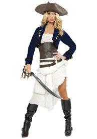 デラックス Colonial 海賊 パイレーツ コスチューム ハロウィン レディース コスプレ 衣装 女性 仮装 女性用 イベント パーティ ハロウィーン 学芸会