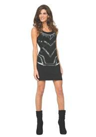 ブラック Panther Women's Tank Dress ハロウィン レディース コスプレ 衣装 女性 仮装 女性用 イベント パーティ ハロウィーン 学芸会