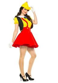 Women's Wooden Puppet コスチューム ハロウィン レディース コスプレ 衣装 女性 仮装 女性用 イベント パーティ ハロウィーン 学芸会