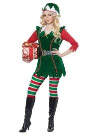 Festive Elf コスチューム 大人用 ハロウィン レディース コスプレ 衣装 女性 仮装 女性用 イベント パーティ ハロウィーン 学芸会