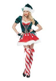 大人用 Santa's Helper コスチューム ハロウィン レディース コスプレ 衣装 女性 仮装 女性用 イベント パーティ ハロウィーン 学芸会