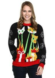 Laser Cat-zillas Ugly Christmas Sweater ハロウィン レディース コスプレ 衣装 女性 仮装 女性用 イベント パーティ ハロウィーン 学芸会
