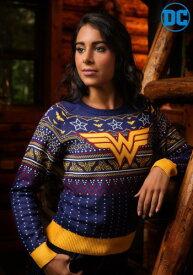 Wonder Woman Women's Navy Ugly Christmas Sweater ハロウィン レディース コスプレ 衣装 女性 仮装 女性用 イベント パーティ ハロウィーン 学芸会