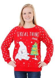 Coca Cola Polar Bear Light Up Womens Sweatshirt ハロウィン レディース コスプレ 衣装 女性 仮装 女性用 イベント パーティ ハロウィーン 学芸会