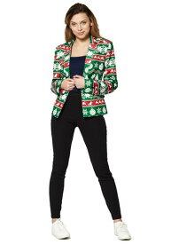 Suitmeister Christmas Nordic Green Women's Blazer ハロウィン レディース コスプレ 衣装 女性 仮装 女性用 イベント パーティ ハロウィーン 学芸会