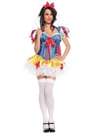 Lacy Sassy Snow ホワイト コスチューム ハロウィン レディース コスプレ 衣装 女性 仮装 女性用 イベント パーティ ハロウィーン 学芸会