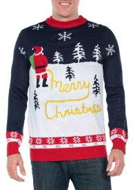 Tipsy Elves Mens Yellow Snow Ugly Christmas Sweater クリスマス ハロウィン メンズ コスプレ 衣装 男性 仮装 男性用 イベント パーティ ハロウィーン 学芸会