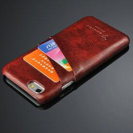 iPhone6本革レザーケース iPhone6 本革 レザー ケース アイフォン6 ケース カード入れ付き カバー スマホケース