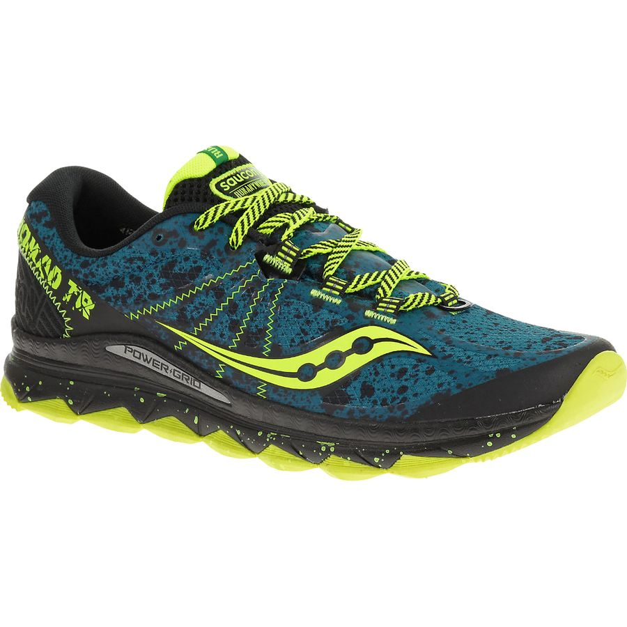 Saucony Nomad Trail Running Shoe - Men's Deepwater Citron アウトドア メンズ 男性用 靴 ランニングシューズ Running Shoes