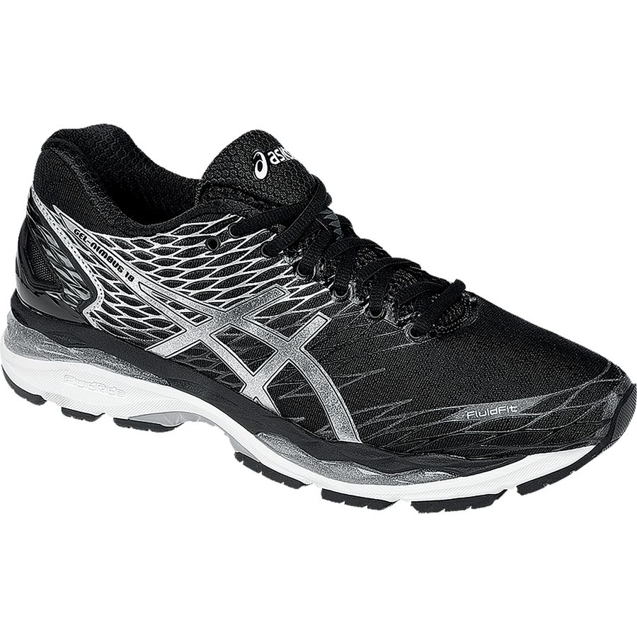 Asics Gel-Nimbus 18 Running Shoe - Men's Black Silver Carbon アウトドア メンズ 男性用 靴 ランニングシューズ Running Shoes