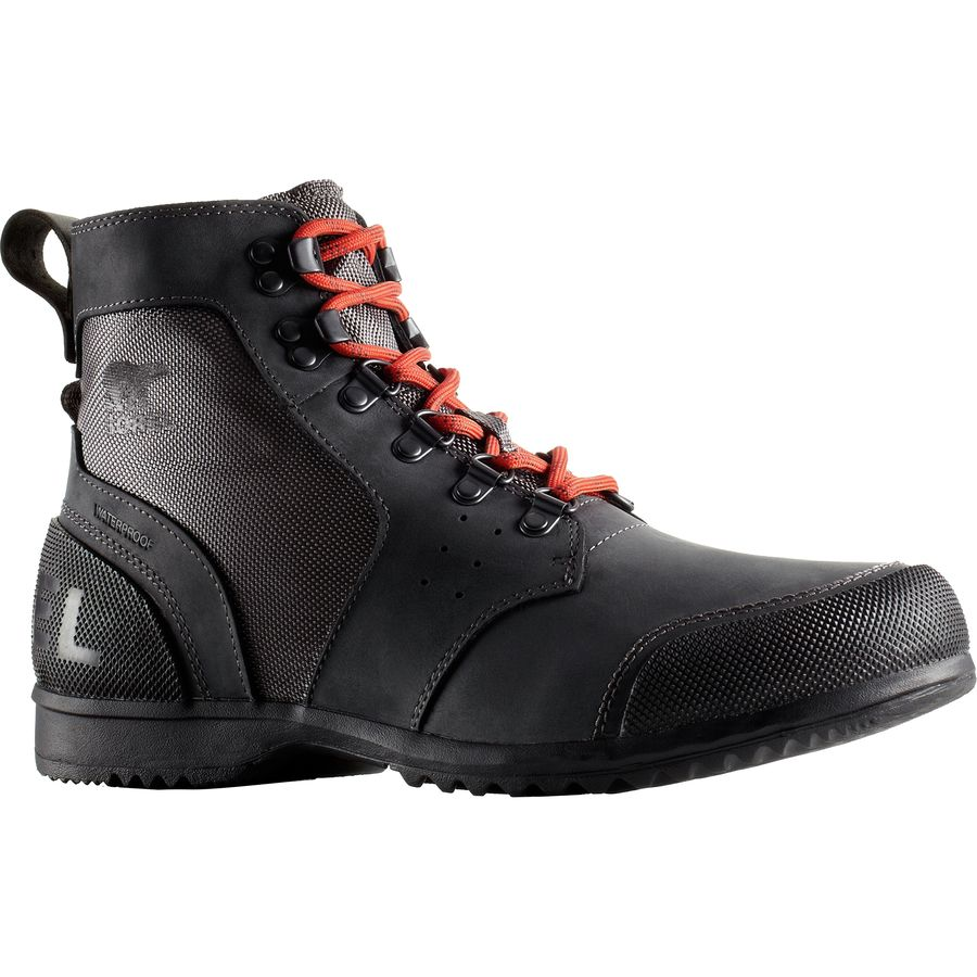 Sorel Ankeny Mid Hiker Ripstop Boot - Men's Shark Bonfire アウトドア メンズ 男性用 靴 シューズ ウインターブーツ Winter Boots & Shoes