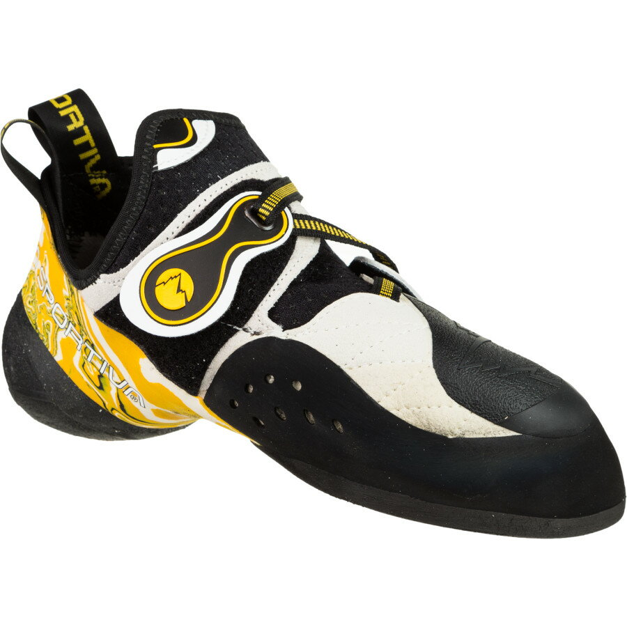 La Sportiva Solution Vibram XS Grip2 Climbing Shoe White Yellow アウトドア メンズ 男性用 靴 ロッククライミングシューズ Rock Climbing Shoes