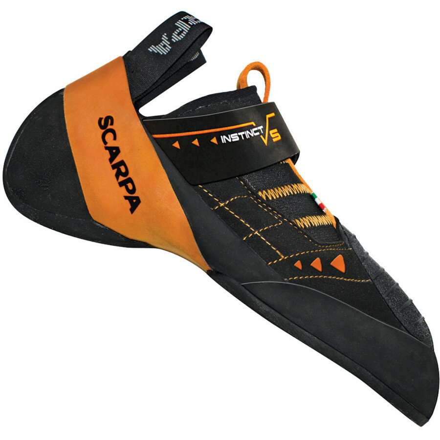 Scarpa Instinct VS Climbing Shoe - Vibram XS Edge Black Orange アウトドア メンズ 男性用 靴 ロッククライミングシューズ Rock Climbing Shoes