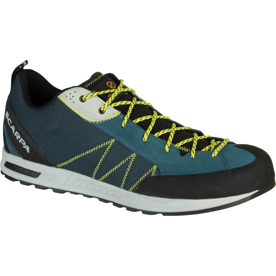 Scarpa Gecko Lite Approach Shoe - Men's Lake Blue Yellow アウトドア メンズ 男性用 靴 アプローチシューズ Approach Shoes