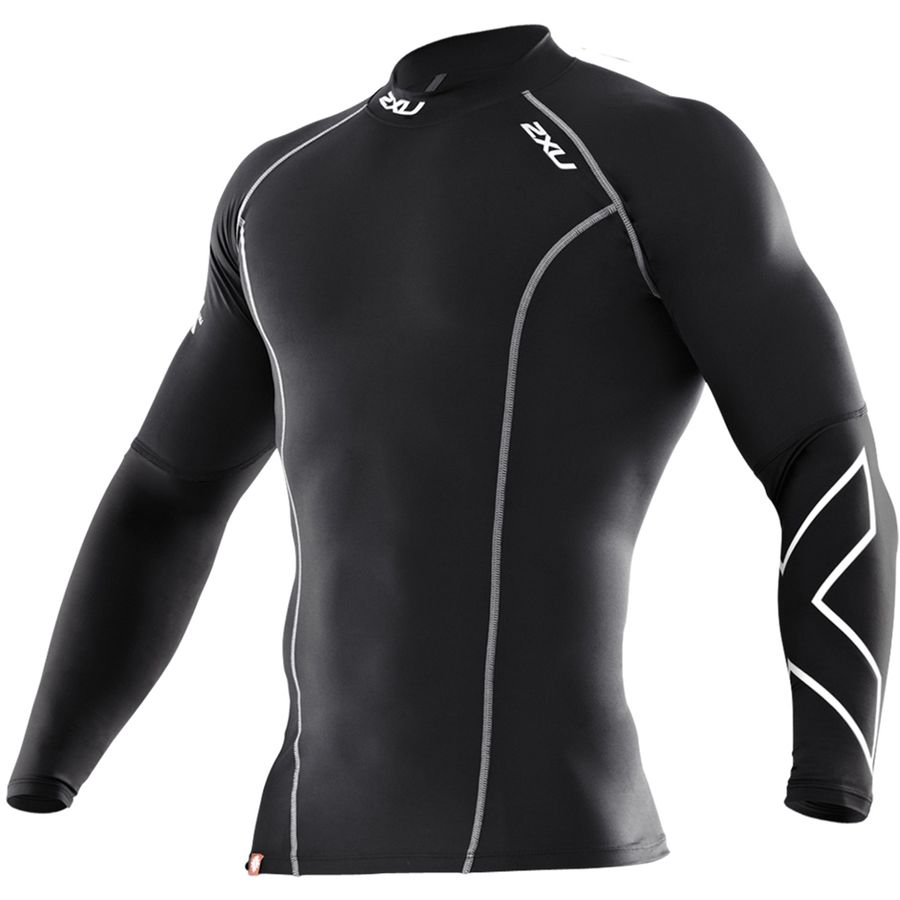 2XU Thermal Compression Top - Long-Sleeve - Men's Black Black