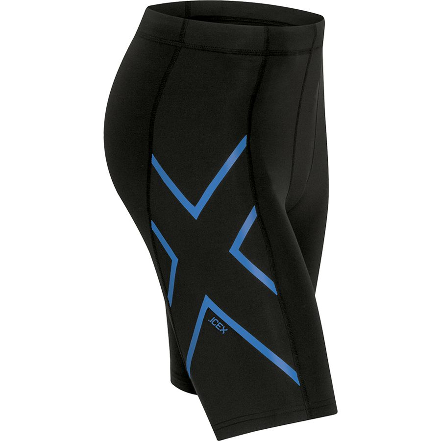 2XU Ice Compression Short - Men's Black Cool Blue