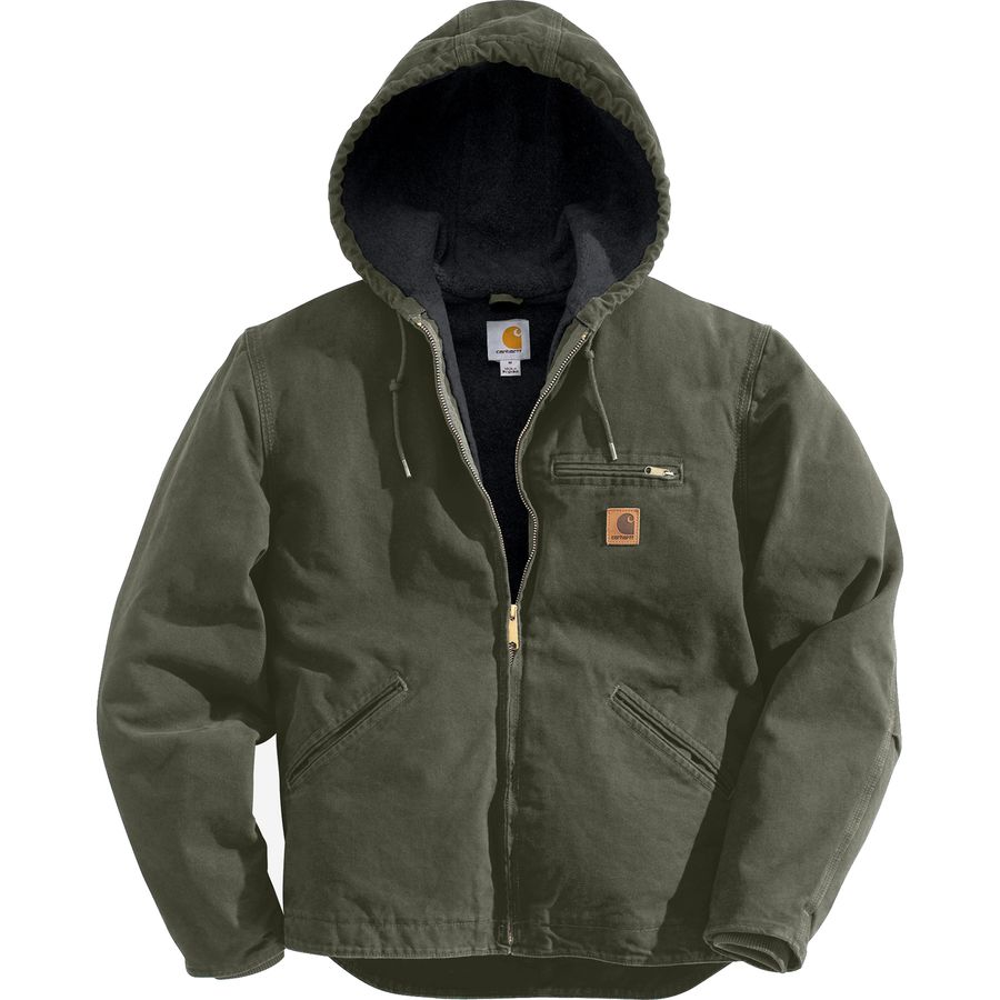 Carhartt Sierra Hooded Jacket - Men's Moss Black Accents メンズ 男性用 アウトドア ジャケット コート アウター Casual Jackets