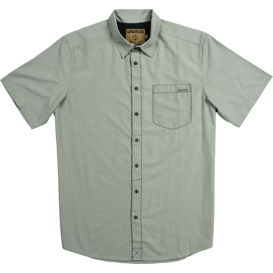 FlyLow Gear Anderson Shirt - Short-Sleeve - Men's Agave アウトドア メンズ 男性用 シャツ Button-Down Shirts